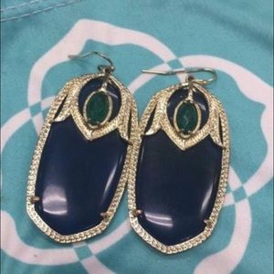 Kendra Scott navy earrings